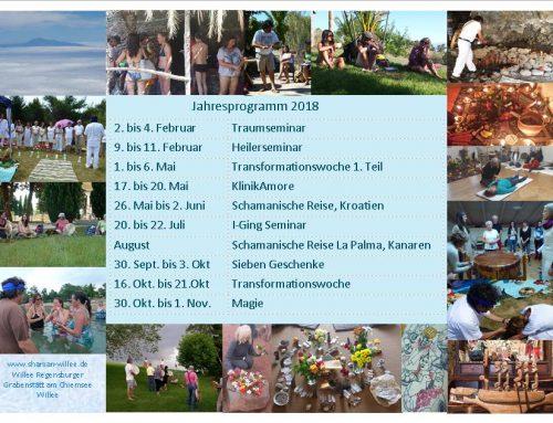 Jahresprogramm der Seminare in 2018
